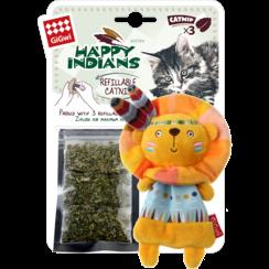 HAPPY INDIANS Navulbare Kattenkruid Leeuw