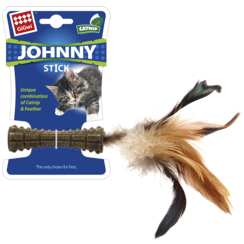 JOHNNY STICK with Feathers Brown