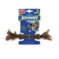 JOHNNY STICK with Double Side Feathers Blue