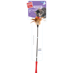 FEATHER TEASER Catwand Red