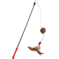 Feather Teaser  FEATHER TEASER Catwand with Plush Tail Red