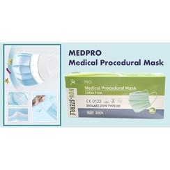 MEDPRO Medizinische Verfahrensmaske mit Ohrschlaufen 50 Stückzahl