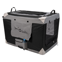 JV TRAVEL Foldable kennel Grey