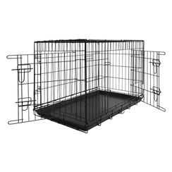 JV TRAVEL Wire Cage 2 Doors Black