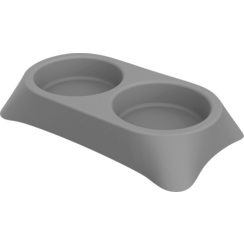 JV PLASTICS Stella Double Feeding Bowl Grey