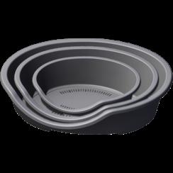 JV PLASTICS Grey Dog Basket