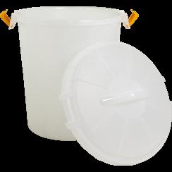 JV PLASTICS Voedselbewaardoos Transparant-50L 44x54cm
