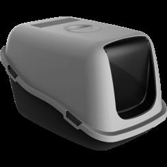 JV PLASTICS Ella Litter Box with Filter and Door Grey-57x39x41cm