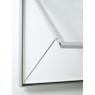 informatiekast 4 x A4 - 6025 Wandmodel - Binnen en buiten