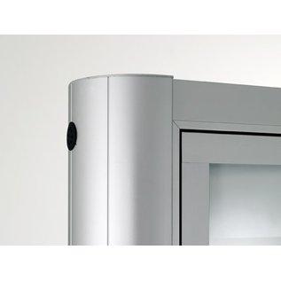 Informatiekast 16 x A4 - 1593 dubbelzijdig Staand model - Buiten