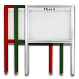 Informatiekast 8 x A4 - 1593 Staand model - Buiten