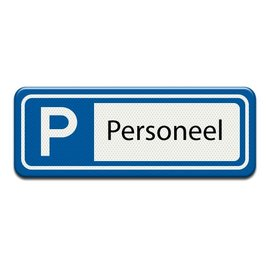 Parkeerplaatsbord Personeel