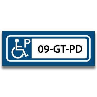 Volkern vlakbord invalide parkeren eigen tekst 400 x 150 mm