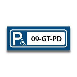 Volkern vlakbord parkeren invalide eigen tekst