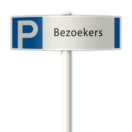 Parkeerplaatsbord Bezoekers deluxe