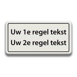 Tekstbord wit/zwart - 2 REGELS 600 x 300 mm