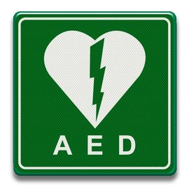 Verkeersbord AED