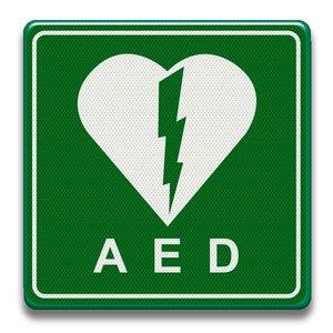 Verkeersbord AED Defibrillator