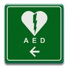 Verkeersbord AED met pijl