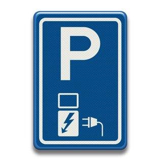 Verkeersbord e08o parkeerplaats oplaadpunt elektrische voertuigen