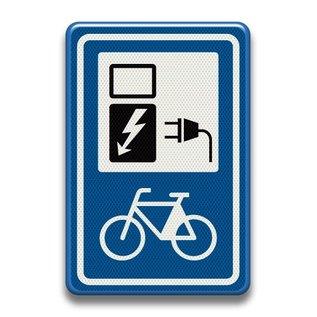 Verkeersbord RVV bw101sp20 oplaadpunt elektrische fietsen