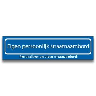 Persoonlijk Straatnaambord kunststof 2 regels 600 x 150 x 4 mm