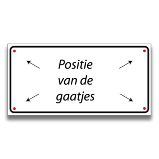 Volkern vlakbord parkeren eigen tekst en logo 500 x 150 mm
