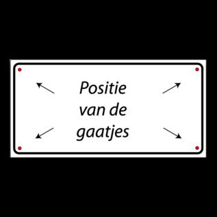 Volkern vlakbord invalide parkeren eigen tekst en logo 500 x 150 mm