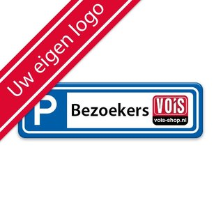 Parkeerplaatsbord eigen tekst en logo 500 x 150 mm
