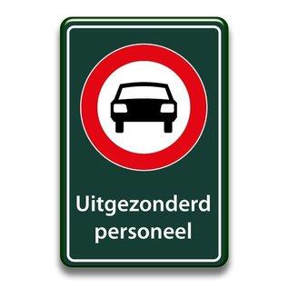 Verboden auto's bord eigen tekst 400 x 600 mm