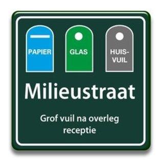 Milieustraatbord eigen tekst 400 x 400 mm