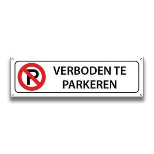 Verboden te parkeren volkern vlakbord 500 x 150 mm