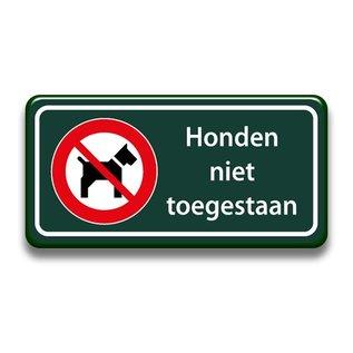 Honden niet toegestaan