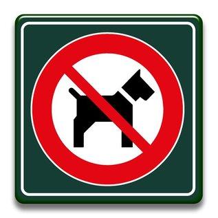 Verboden voor honden 400 x 400 mm