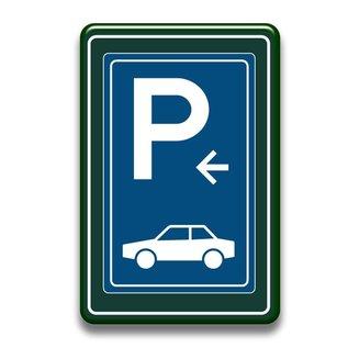 Parkeerbord auto's met of zonder pijl 400 x 600 mm