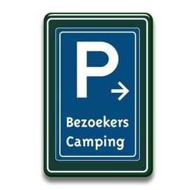Parkeerbord bezoekers met of zonder pijl