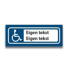 Volkern vlakbord invalide parkeren eigen tekst