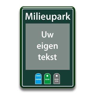 Milieuparkbord eigen tekst