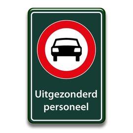 Verboden auto's bord uitgezonderd