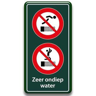 Zwembadbord verboden duiken + springen 400 x 800 mm