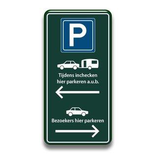 Receptiebord parkeren inchecken 400 x 800 mm