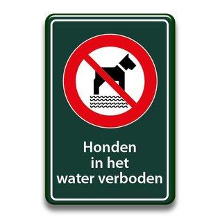 Zwembadbord verboden voor honden 400 x 600 mm