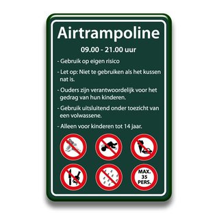 Airtrampoline bord regels 400 x 600 mm