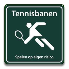 Tennisbanen eigen risico
