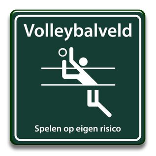 Volleybalveld eigen risico 400 x 400 mm