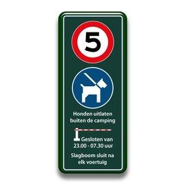 Snelheid + honden + slagboom