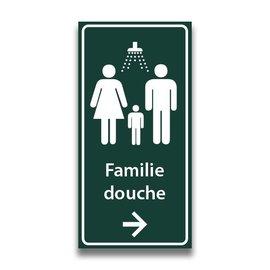 Toiletbord familiedouche met pijl