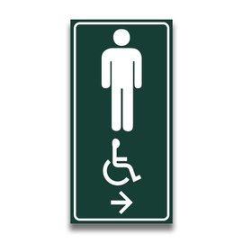 Toiletbord mindervaliden heren met pijl