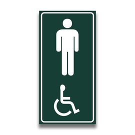 Toiletbord mindervaliden heren