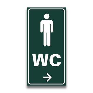 Toiletbord toilet heren wc met pijl